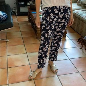 Floral Avery ankle pants